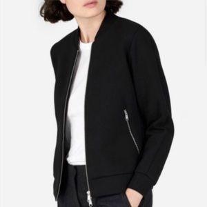 Everlane Bomber Full Zip Sweater Jacket Black